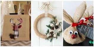... Winning How To Make Rustic Christmas Decorations Opulent 14 Burlap  Decor ...