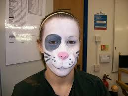 bunny face paint art