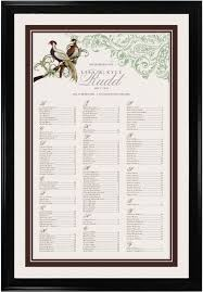 Asian Peace Birds Wedding Seating Chart With Wedding Guest