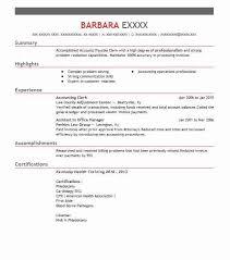 Accounting Clerk Resume 6 Accounting Clerk Resume Example