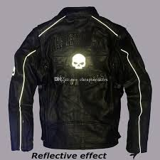 2018 harley angel men s motorcycle jacket first layer of leather genuine night reflective skeleton liner detachable cotton vest from sneakers