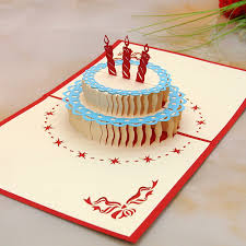 Amazing Birthday Cake Type B 3d Pop Up Card Abctb82