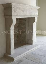 Antique Stone Or Cast Stone Fireplace Mantels  Google Search Limestone Fireplace Mantels