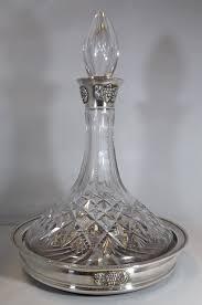 superb thomas webb silver mounted ship s decanter on coaster 1 of 6