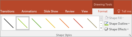 Use the powerpoint indent and line spacing functions to ensure a professional look. Change The Color Style Or Weight Of A Line Office Support