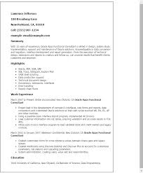 Cover Letter For Oracle Apps Technical Create Food Sap Functional