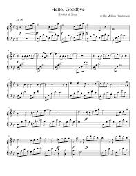 hello free piano sheet music hyorin of sistar hello goodbye my love from the stars ost