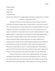 Research paper young goodman brown