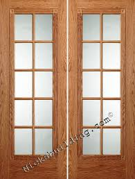 1 8 clear tempered glass widths 4 0 5 0 6 0 6 8 oak only 598 prehung added beauty fancy interior french doors