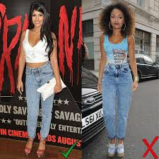 Best diy high waisted jeans outfits for women Ruth Jasmin Walia At The Youre Next Screening At The Soho Hotel In London Jeans How To Wear Acid Wash Jeans 11 Outfits To Try And Avoid