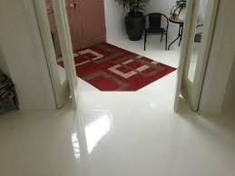 pure white high gloss floor in hallway