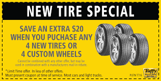 save 20 when you purchase 4 new tires or 4 custom wheels
