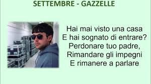 Settembre - Gazzelle (audio + testo, lyrics)