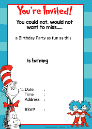 a birthday invitation free printable dr seuss birthday invitations drevio invitations design