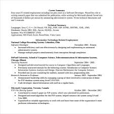 Experienced Software Engineer Resumes Sample Software Developer Resume 10 Free Documents