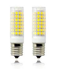 Intermediate Base E17 Led Microwave Oven Appliance Light Bulb 8w 60w Halogen Bulb Equivalent 120v Daylight 6000k Pack Of 2