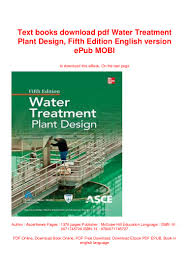 Water Treatment Plant Design Fifth Edition Pdf Text Books Download Pdf Water Treatment Plant Design Fifth