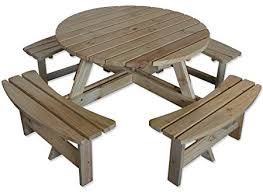 natural wood bench. Interesting Wood Maribelle 8 Seater Natural Pine Round Wooden BenchPicnic Table  For  Garden Pub On Wood Bench B