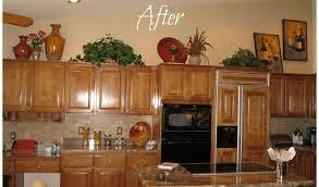 Above Kitchen Cabinets Ideas Impressive Decorating Ideas