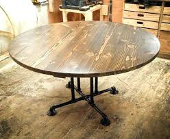 round wood dining table circular wooden table with industrial base round by wood dining table legs