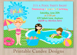 printable pool party invitations net pool party printable invitations design party invitations