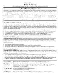 free human resources generalist resume example sample resume human resources