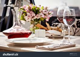 Setting A Dinner Table Fine Restaurant Dinner Table Place Setting Stock Photo 73569301