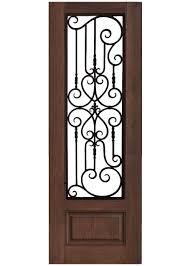 Iron Overlay Mahogany Doors | Jemison Wholesale Door