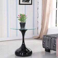 round black coffee table. Modern Clear Round Glass Black Coffee Table Side End Living Room  Furniture Round Black Coffee Table