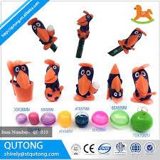 Vending Machine Toys Wholesale Adorable Wholesale Toy Capsules 48mm PVC Customized Crow Pencil Top