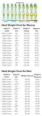 5 Foot 6 Weight Chart Correct Height And Weight Chart For Women And Men Find Your
