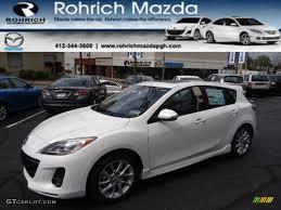 2012 Crystal White Pearl Mica Mazda MAZDA3 s Grand Touring 5 Door ...