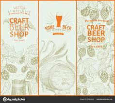 Hop Design Shop Beer Hop Design Templates Retro Beer Background Vector