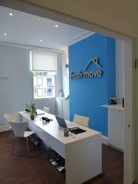 Feature Wall Letting Agency Office Design By Home Restyler Home Office  Feature Wall Office Reception Feature