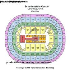 bok seating chart prudential center seating chart with rows 52 legendary bok center with regard to