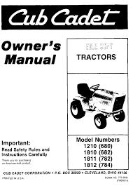 cub cadet lawn mower 1810 682 user guide manualsonline com next