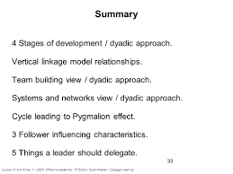 chapter dyadic relationships followership and delegation ppt 33 summary