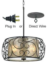 plug in ceiling light fixtures plug in swag light fixtures bronze iron mica drum pendant light