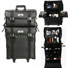 image is loading professional black chic trolley portable cosmetic makeup artist