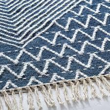 traced diamond kilim rug west elm