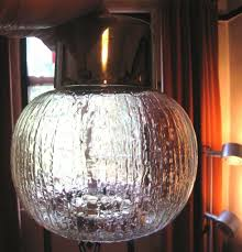vintage retro 1960 70 s brass glass ball ceiling pendant light lamp shade in vgc three available