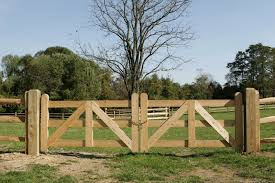 wood farm fence gate. Post And Rail Farm Fence With A Double Cypress Gate--maybe Gates For The Wood Gate E