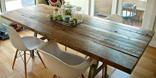 vintage reclaimed wood kitchen table