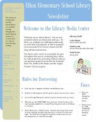 schools newsletter ideas creating a library newsletter educational resources elementary