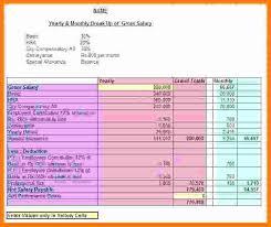 Salary Calculator In Excel Free Download 8 Salary Breakup Format In Excel Technician Salary Slip