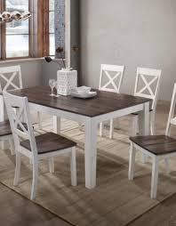 A La Carte Rectangular Farmhouse Dining Table W 6 Chairs Bargain
