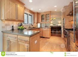 Kitchen Paneling Kitchen With Oak Wood Paneling Stock Photography Image 12656882