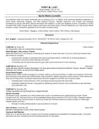 Resume For Journalism Amykoko