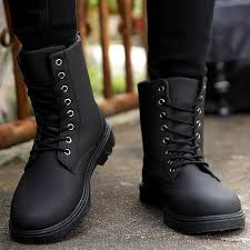 leather boots men zipper short plush snow boots round toe hard wearing non slip martin boot 2018 fashion bota masculina sporto boots boys boots from