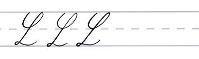 cursive calligraphy capital l multiples
